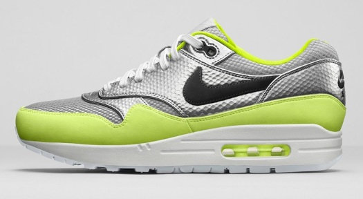 Nike Air Max 1 FB Premium Mercurial Pack metallic silver & volt