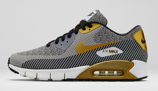 Nike Air Max 90 Jacquard 669822-100 Ivory/Metallic Gold-Metallic Silver-Black